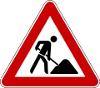 Verkehrszeichen 123 StVO Baustelle©Gemeinde Stuhr